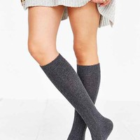 SOXIETY Cable-Knit Fur Knee-High Sock-