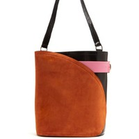 Cigar suede and leather tote   Hillier Bartley   MATCHESFASHION.COM US