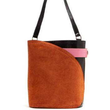 Cigar suede and leather tote | Hillier Bartley | MATCHESFASHION.COM US