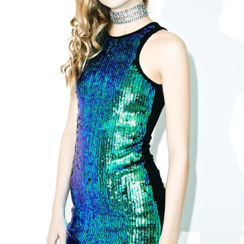 Hooked On Yew Sequin Dress