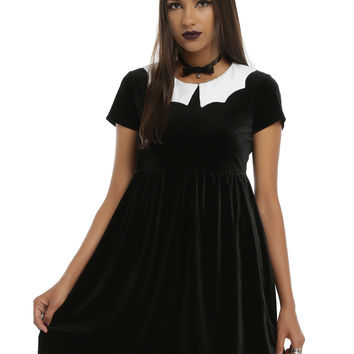 Iron Fist x Ash Costello Bat Royalty Bat Collar Velvet Dress
