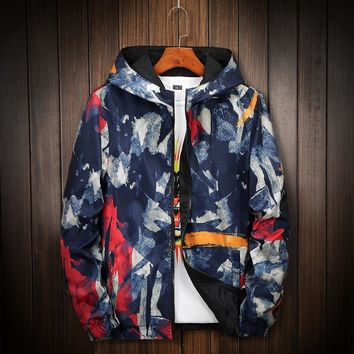 KUYOMENS  Camouflage Jacket Men Women Plus Size Camo Hooded Windbreaker Jackets Military Canvas Jacket Parka Fashion Streetwear