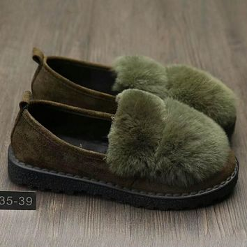 Women Casual Single Shoes Loafer Shoes Flats Shoes Green G-A0-HXYDXPF