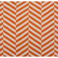 Loma Flat-Weave Rug, Orange, Area Rugs