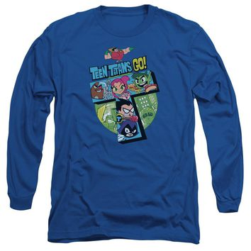 Teen Titans Go - T Long Sleeve Adult 18/1 Officially Licensed Shirt