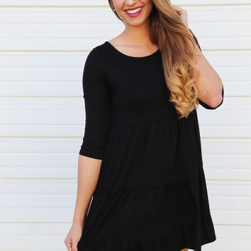 Georgia On My Mind Dress {Black}