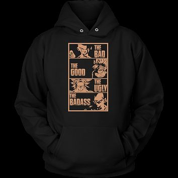 Super Saiyan - The good the bad the ugly the badass - Unisex Hoodie T Shirt - TL01103HO
