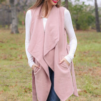 Sleeveless Coat - Blush