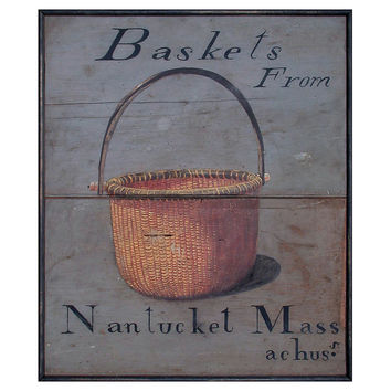 Nantucket Baskets Sign, Signs