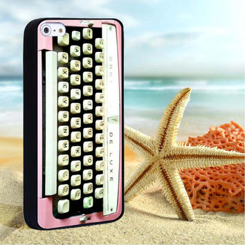 Brother typewriter pink for iPhone 4/4s,iPhone 5/5s/5c,Samsung Galaxy S3/S4/S5 plastic & Rubber case