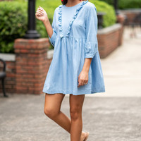 Featured Fun Dress, Light Chambray
