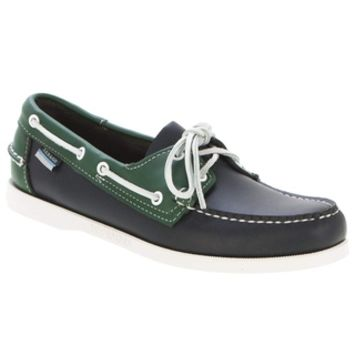 Sebago Spinnaker 72826 Navy Green Boat Shoe