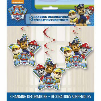 Paw Patrol Hanging Decorations [3 per Pack]
