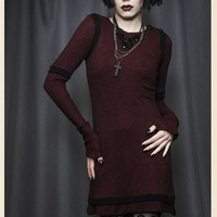 LINGERING THOUGHTS GOTHIC RED TUNIC