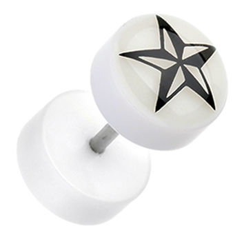 Glow in the Dark Nautical Star Acrylic Fake Plug