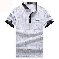 Hugo Boss  Men Fashion Casual Letter Shirt Top Tee