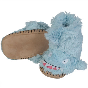 Shark Youth Fuzzy Fleece Slippers