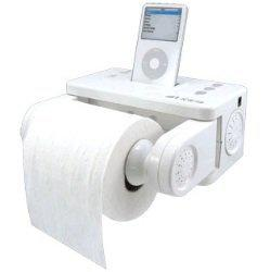 Gift Idea: iCarta iPod Stereo Dock and Bath Tissue Holder