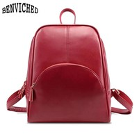 Preppy Style Woman Backpack New 2017 Fashion Genuine Leather Backpacks 5 Colors School Bags For Teenagers Girls Casual Rucksacks