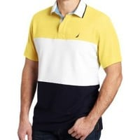 Nautica Men's Short Sleeve Striped Polo Shirt
