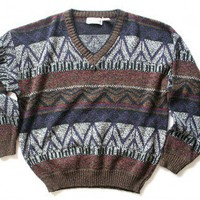 Shop Now! Ugly Sweaters: V Neck Soft Acrylic Cosby Style Tacky Ugly Sweater Men's Size XL $18 - The Ugly Sweater Shop