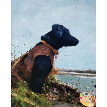 Hunting Dogs - Duck Hunting Painting 585