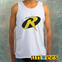 Robin Logo Clothing Tank Top For Mens