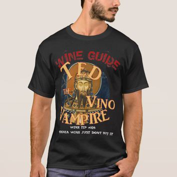 TED THE VINO VAMPIRE WINE GUIDE VA Wines T-Shirt