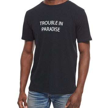 Trouble in Paradise Knit Graphic Tee,