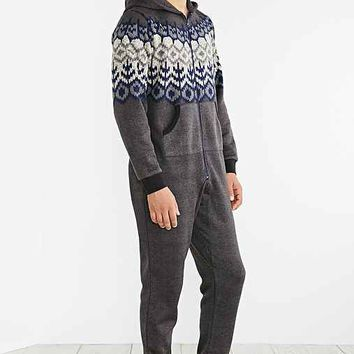 Daily/Special Hooded Sweater Union Suit- Charcoal