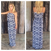 Resort Anywhere Maxi Dress - NAVY