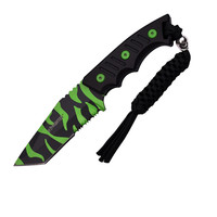 "Z-Hunter Fixed Blade Knife 3.75"" Zombie Camo Plain Blade"