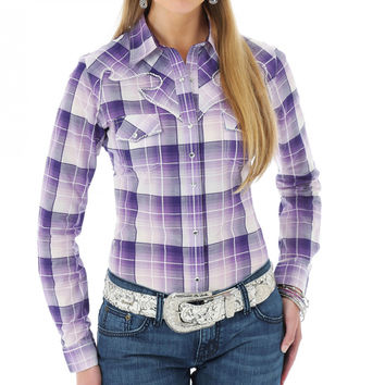Rock 47 Women's Plaid Long Sleeve Western Shirt