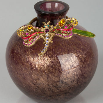 Dragonfly Vase - Jay Strongwater