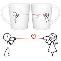 "BOLDLOFT® ""Say I Love You"" His and Hers Coffee Mugs-His and Hers Gifts,Valentines Day Gifts for Him for Her,Couples Gifts,Cute Gifts for Boyfriend or Girlfriend,Romantic Gifts for Anniversary,Wedding,Birthday"