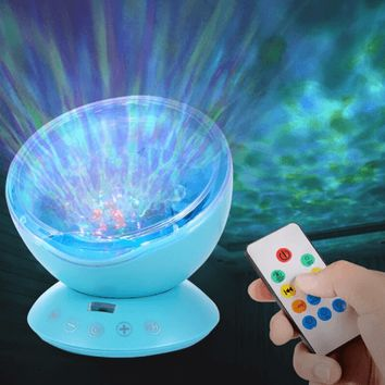 Ocean Wave or Night Sky Projector Night Light with Music