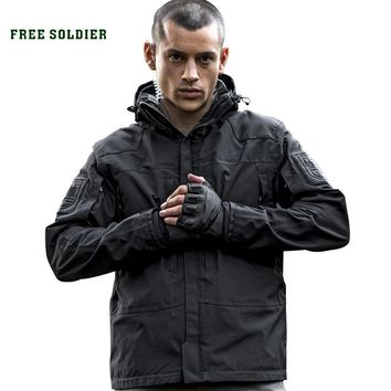 outdoor tactical military jacket, wear-resistant, breathable, waterproof for camping hiking clothing,warm lining