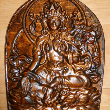 "Krishna  - Wooden carving - (pine) SIZE: 7"" 1/2 x 6"" Wall Art, Decor, Hinduism, Religion, Home decor, design"