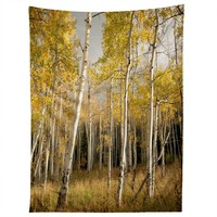 Bird Wanna Whistle Golden Aspen Tapestry