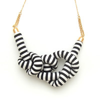 Stripe Rope Knot Necklace