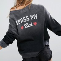 Wildfox I Miss My Bed Sweatshirt at asos.com