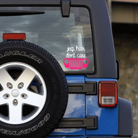 Jeep Hair Don't Care Decal Perfect for Jeeps , Yetis, Laptops, Planners and More!