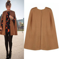 Plain Cape Coat