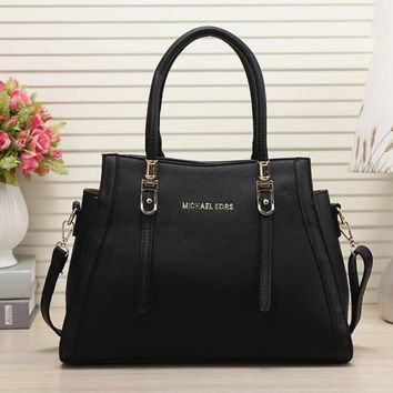 One-nice™ MICHAEL KORS MK Women Shopping Leather Handbag Tote Satchel Shoulder Bag Black I-MYJSY-BB