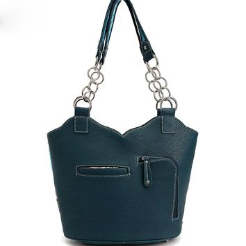 Turquoise Cowgirl Conceal and Carry Shoulder Bag