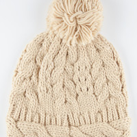 Braided Band Beanie Natural One Size For Women 26393642301