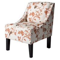 Hudson Upholstered Accent Chair - Rust Bird Floral