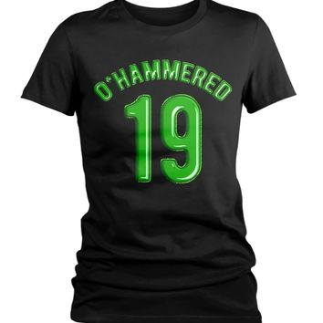 2973a7a39132 Women's Funny O'Hammered T-Shirt Drinking St. Patrick's Day Shir