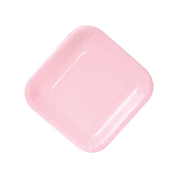 Bulk Square Pink Paper Party Plates, 7 in., 18-ct. Packs at DollarTree.com