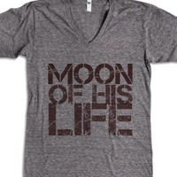 Moon of my life (Couple's T)-Unisex Athletic Grey T-Shirt